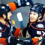 5 Tore in 4 Spielen Ryan Getzlaf & Rickard Rackell - Screenshot Copyright Sport1 US HD
